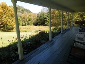 farmhouse south porch view